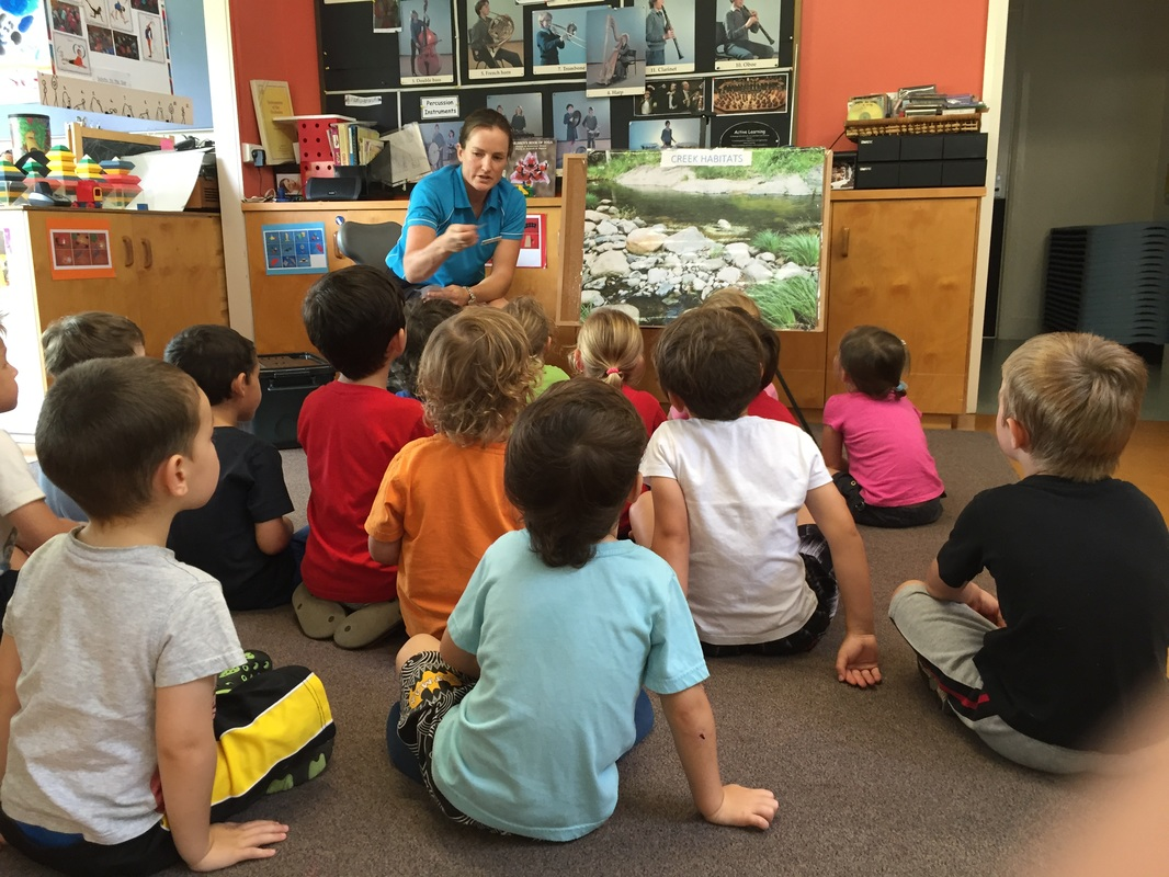 Lots of interest in waterbugs at one of our kindergarten incursions